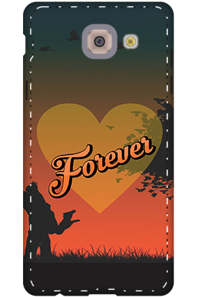 3D-samsung galaxy j7 Max Love Forever Mobile Cover