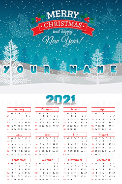 Customised Ice Poster Name In Image Calendar (12x18 Inches)