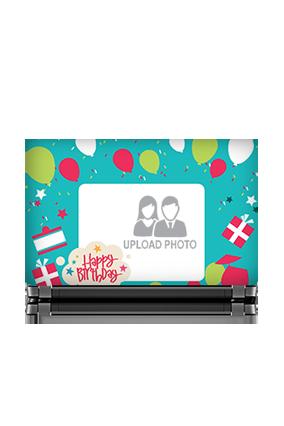 Personalised Birthday Laptop Skin