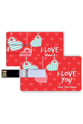 Designer and Trendy Hearts Valentine Credit Card Pen Drive