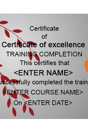 Beauty Salon And Spa Certificates Online in India with Custom