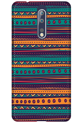 3D - Nokia 8 Multicolor Mobile Cover