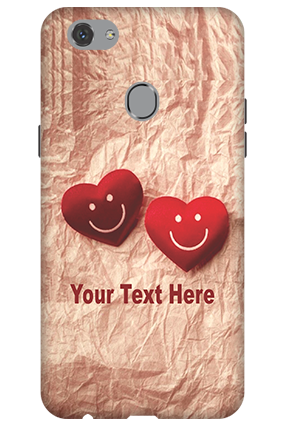 3D - Oppo F7 Smiley Hearts Mobile Cover