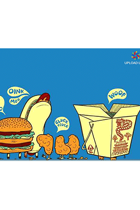Customized Snacks on Board Table Mat