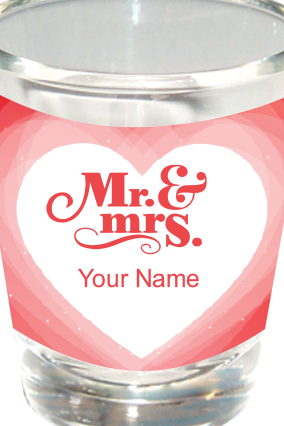 Mr. & Mrs. Shot Glass