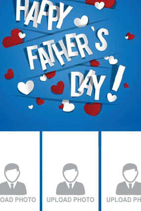 Happy Father's Day Portrait Collage