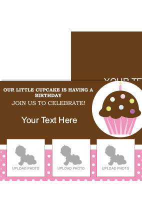 Cake Birthday Invitation Card
