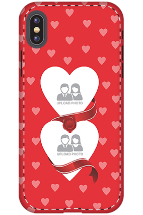3D - Apple iPhone X Pink Heart Anniversary Mobile Cover