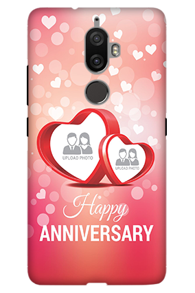 3D - Lenovo K8 Plus Floral Hearts Anniversary Mobile Cover