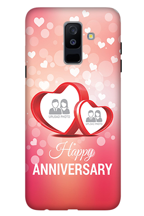 3D - Samsung Galaxy A6 Plus Floral Hearts Anniversary Mobile Cover