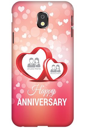 Customize 3D-Samsung Galaxy J3 (2017) Floral Hearts Anniversary Mobile Cover