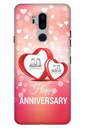 3D-LG G7 Plus ThinQ Floral Hearts Anniversary Mobile Cover