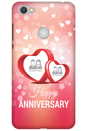 Printed 3D-Xiaomi Redmi Y1 Floral Hearts Anniversary Mobile Cover