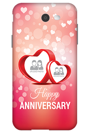 3D-Samsung Galaxy J7 Floral Hearts Anniversary Mobile Cover