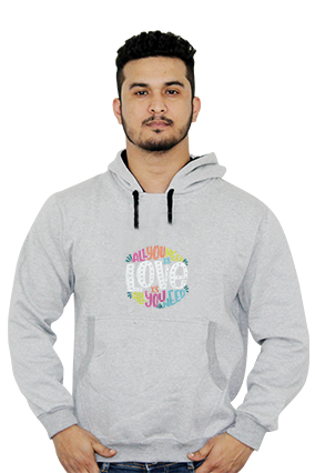 All You Need is Love Full Sleeves Hoodie