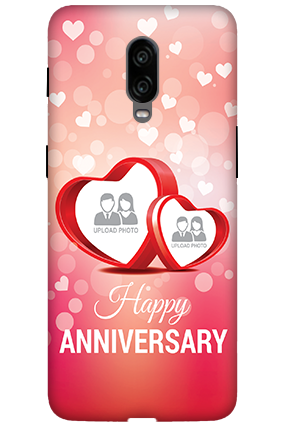 3D -  Oneplus 6T Floral Hearts Anniversary Mobile Cover