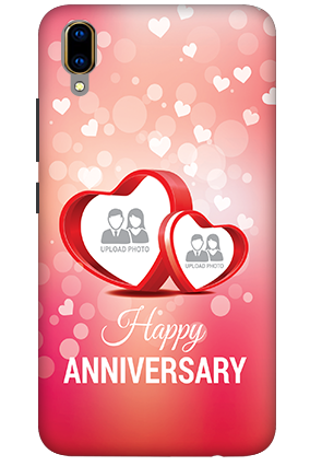 3D - Vivo V11 Pro Floral Hearts Anniversary Mobile Covers
