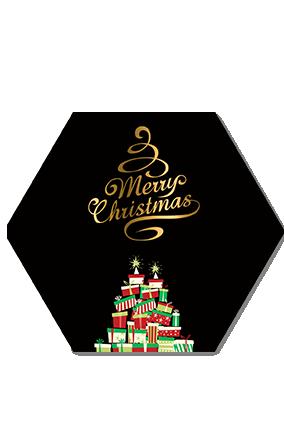 Surprise Gifts Merry Christmas Hexa Coaster