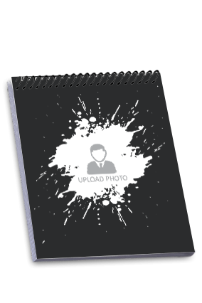 Abstract Frame Top Spiral Notepad