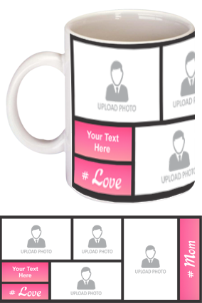 Pink Personalized Mother's Day Exclusive Bone China Mug