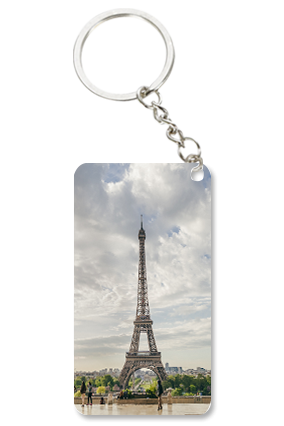 Eiffel Tower Small Rectangle Key Chain