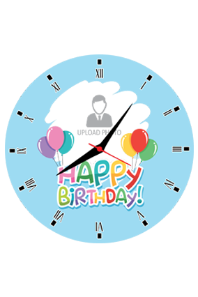 Colorful Balloons Personalized Round Wall Clock For Birthday