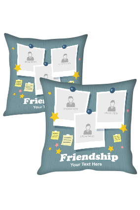 Collage type Personalized Friendship Cushion Cover