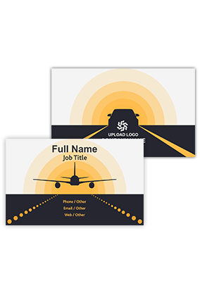 Plane on Runway Customized Travel and Tourism Visiting Card