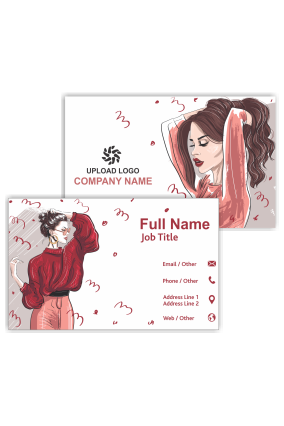 Stylish Girl Personalized Fashion Visiting Card