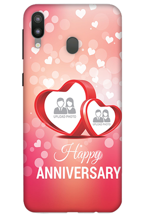 3D-Samsung Galaxy M20 Floral Hearts Anniversary Mobile Covers