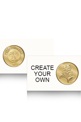 Create Your Own 2 Gm- 24K Floral Pure Gold