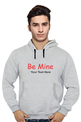 Be Mine Customized Hoodie (Gray)