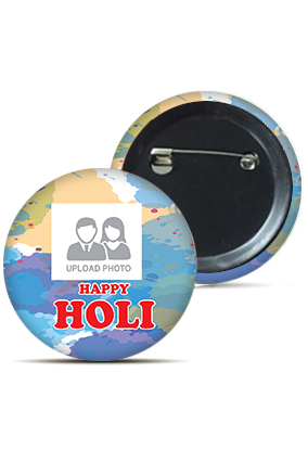 Colorful Abstract Personalized Holi Badges
