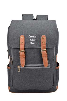 Canvas 25 Ltr Grey Backpack Bag