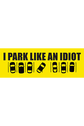 Amazing Park Like Idiot Bumper Sticker