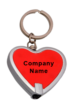 Heart Shape Keychain With Torch J78
