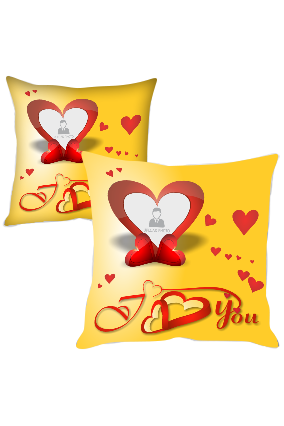Flying Red Hearts Printed Cushion Cover
