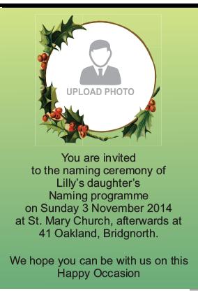 Naming Ceremony Invitation Namkaran Invitation Cards Online In