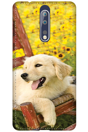 3D - Nokia 8 Cute Dog Mobile Cover