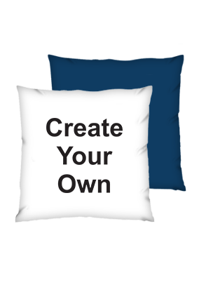 Create Your own Polyester Square Shape Navy Blue Cushion
