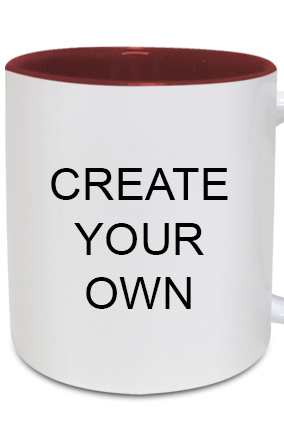 Create Your Own Inside Maroon Mug