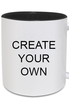 Create Your Own Inside Black Mug With Black Handle