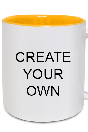 Designer Create Your Own Inside Yellow Mug