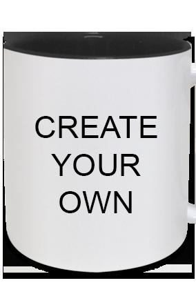 Create Your Own Inside Black Mug