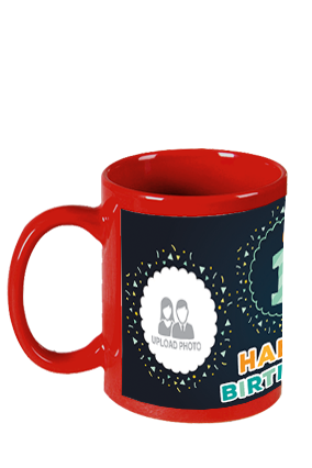 Premium Celebrations Red Patch Mug