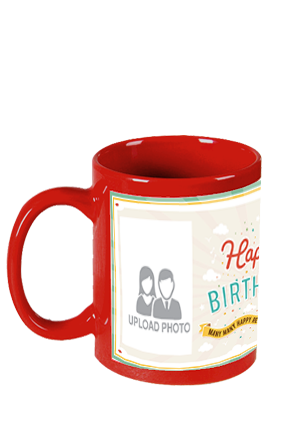 Greetings Red Patch Mug