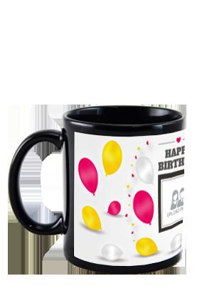 Customized Balloons Black Patch Mug