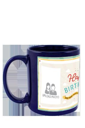 Greetings Blue Patch Mug