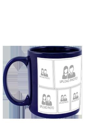 Creative Blue Patch Mug