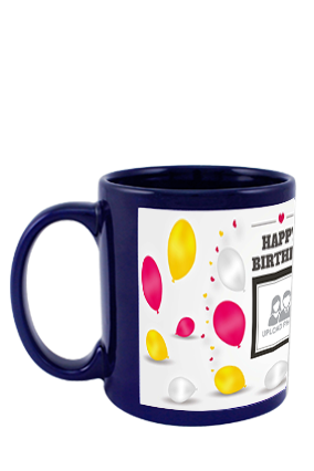 Balloons Blue Patch Mug